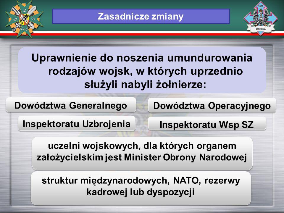Inspektoratu Uzbrojenia uczelni wojskowych, dla których organem założycielskim jest Minister Obrony Narodowej struktur międzynarodowych, NATO, rezerwy