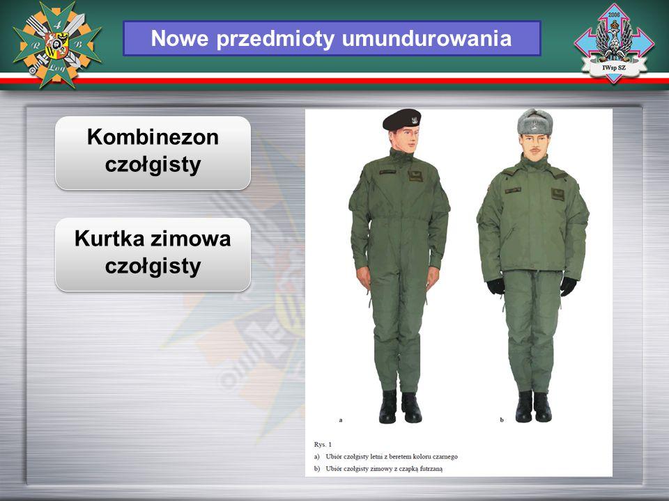 Nowe przedmioty umundurowania Kombinezon czołgisty Kurtka zimowa czołgisty