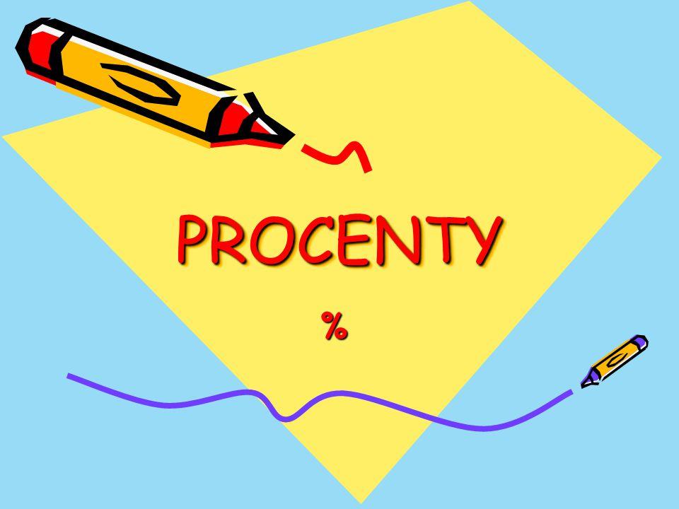 PROCENTYPROCENTY %