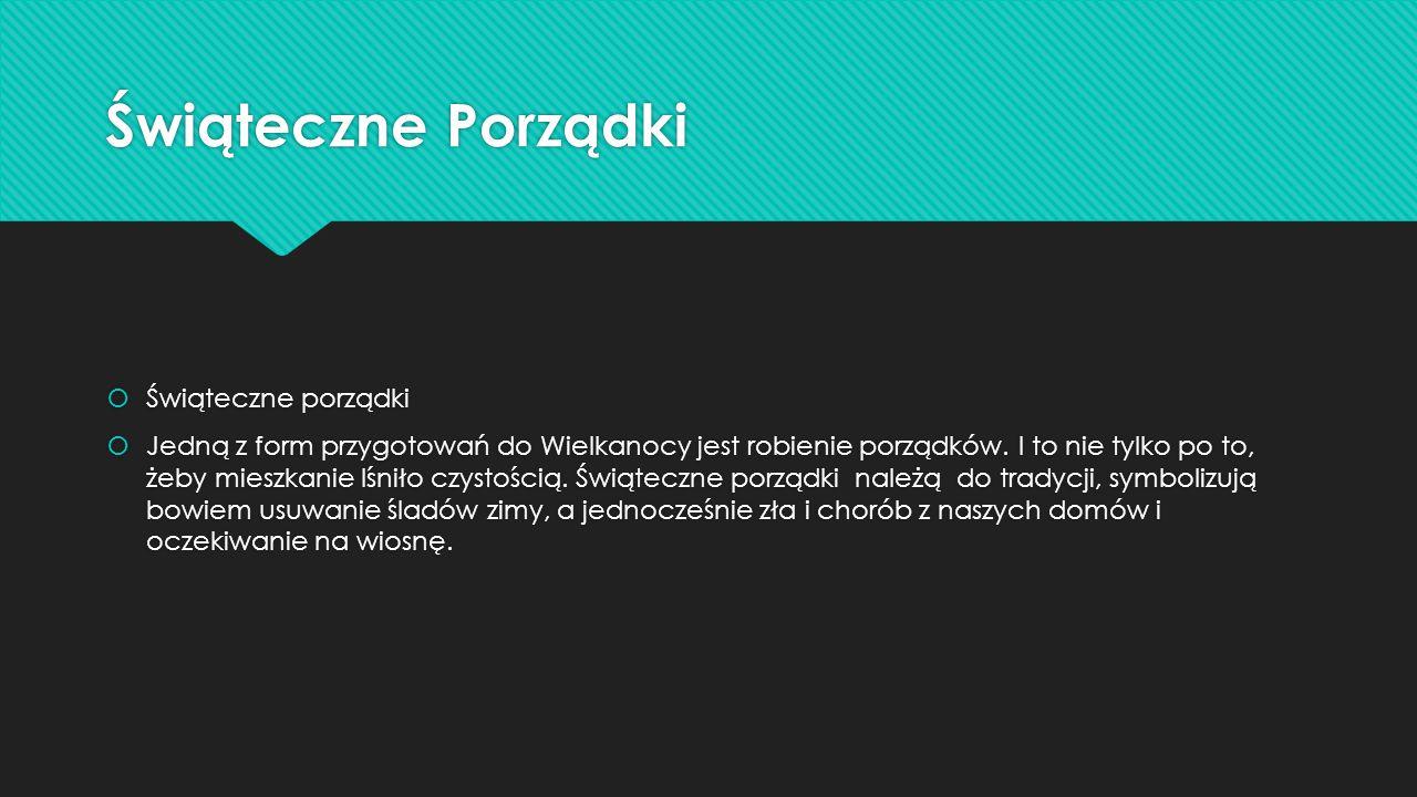 Potrawy Wielkanocne  Potrawy wielkanocne  Polska tradycja związana z potrawami wielkanocnymi jest bardzo bogata.