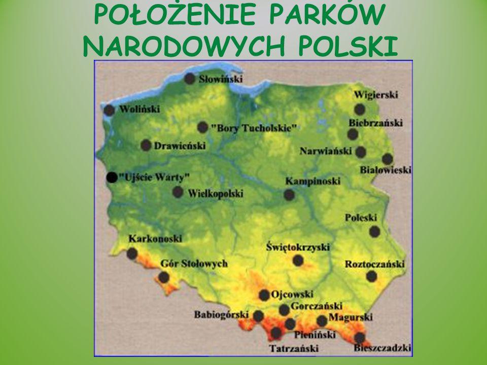 Kolejność Parków Narodowych Polski według dat utworzenia: 1.