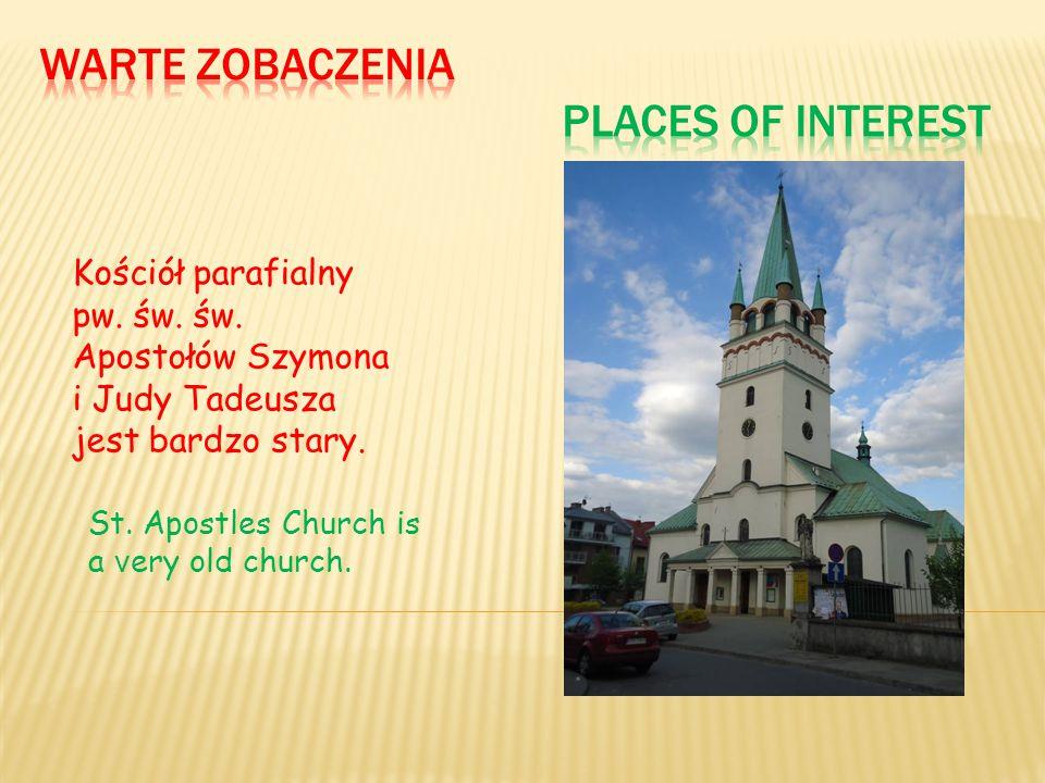Kościół parafialny pw. św. św. Apostołów Szymona i Judy Tadeusza jest bardzo stary. St. Apostles Church is a v ery old church.