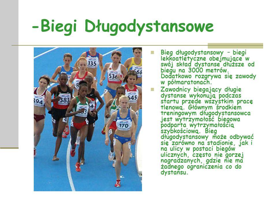 -Biegi przez Płotki Biegi przez płotki, inaczej biegi z przeszkodami to konkurencje lekkoatletyczne, do których zalicza się biegi o dystansie od 1500m do 3000m.