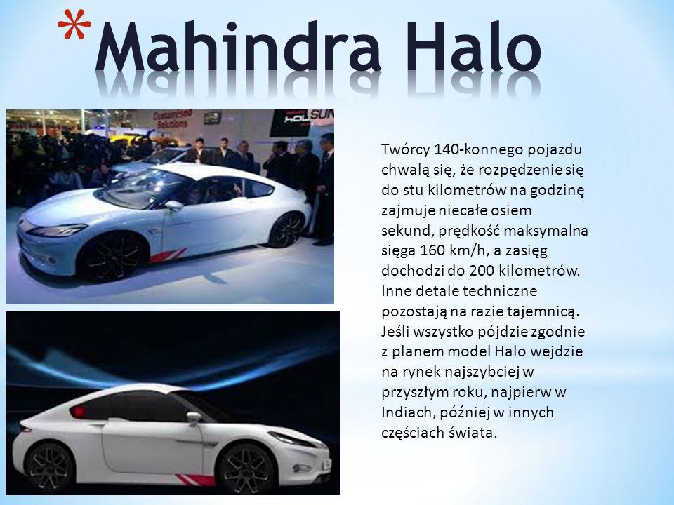 Twórcy 140-konnego pojazdu chwalą się, że rozpędzenie się do stu kilometrów na godzinę zajmuje niecałe osiem sekund, prędkość maksymalna sięga 160 km/h, a zasięg dochodzi do 200 kilometrów.