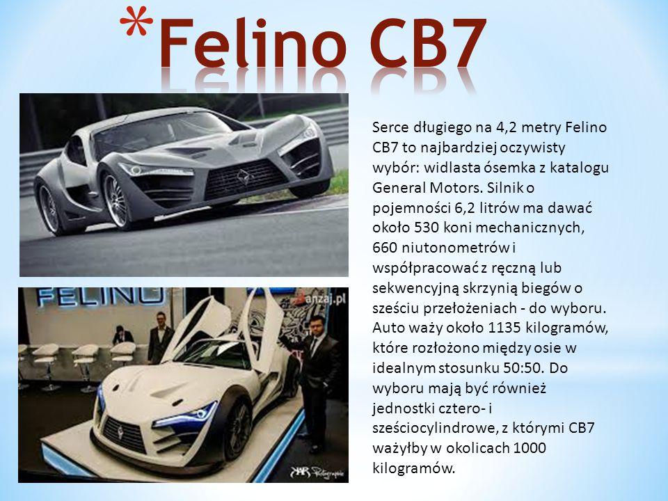 Serce długiego na 4,2 metry Felino CB7 to najbardziej oczywisty wybór: widlasta ósemka z katalogu General Motors.