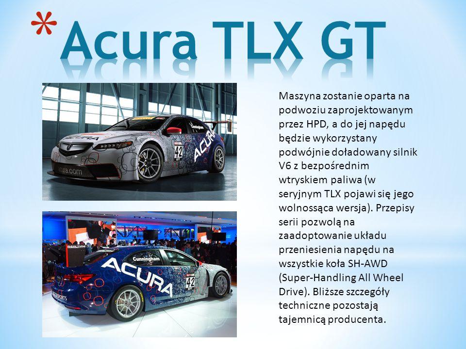 Maszyna zostanie oparta na podwoziu zaprojektowanym przez HPD, a do jej napędu będzie wykorzystany podwójnie doładowany silnik V6 z bezpośrednim wtryskiem paliwa (w seryjnym TLX pojawi się jego wolnossąca wersja).