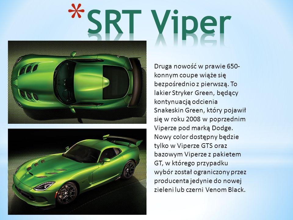 Druga nowość w prawie 650- konnym coupe wiąże się bezpośrednio z pierwszą.