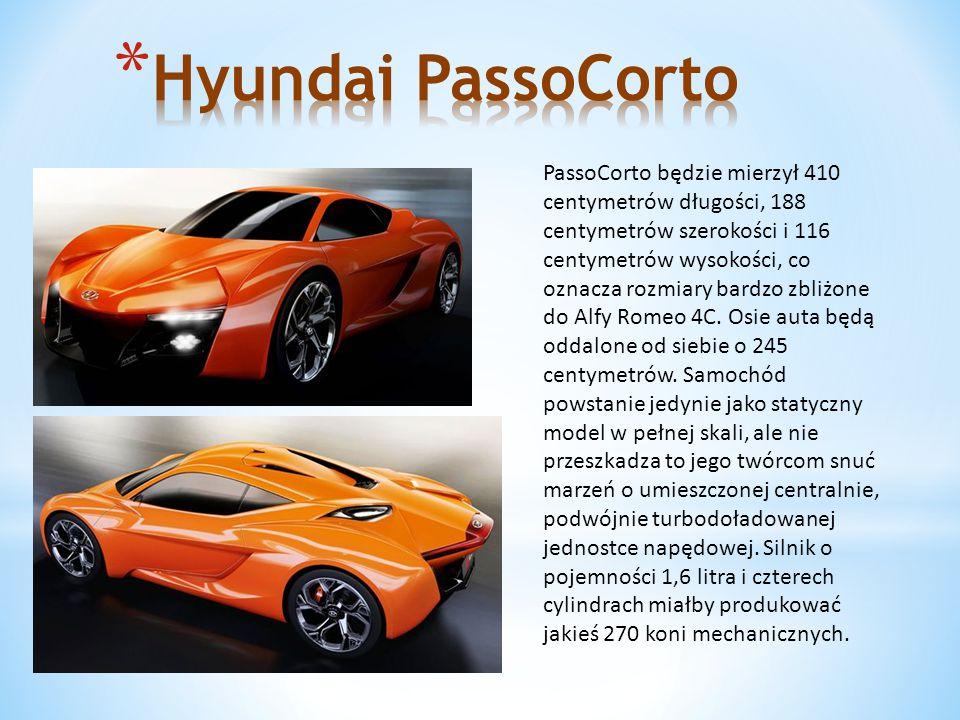 PassoCorto będzie mierzył 410 centymetrów długości, 188 centymetrów szerokości i 116 centymetrów wysokości, co oznacza rozmiary bardzo zbliżone do Alfy Romeo 4C.