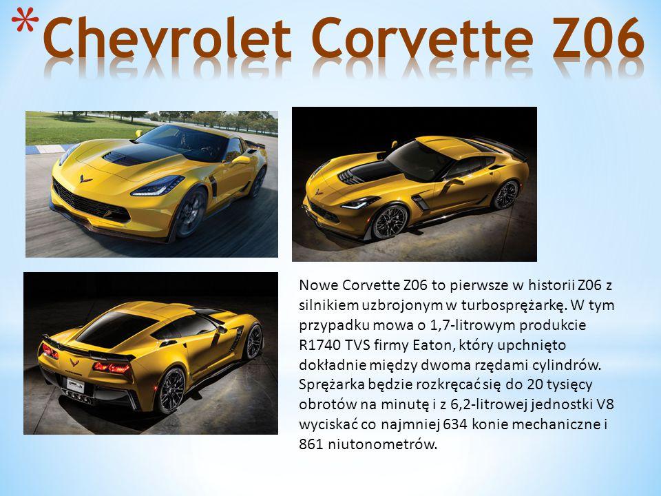 Nowe Corvette Z06 to pierwsze w historii Z06 z silnikiem uzbrojonym w turbosprężarkę.
