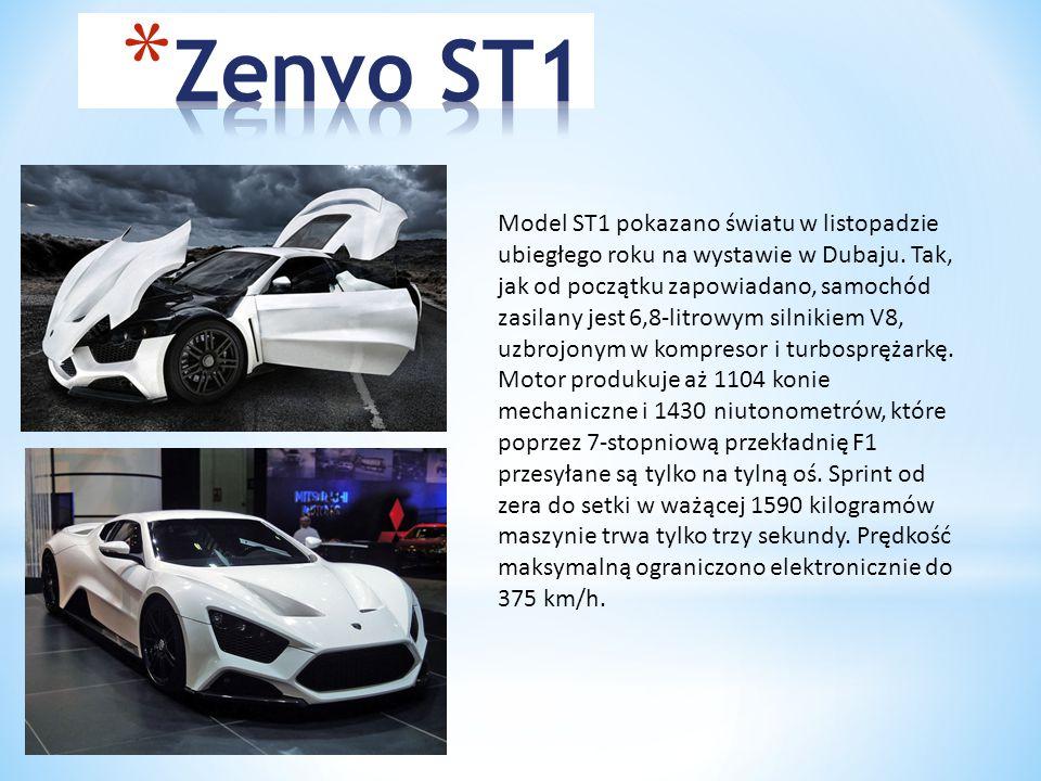Model ST1 pokazano światu w listopadzie ubiegłego roku na wystawie w Dubaju.