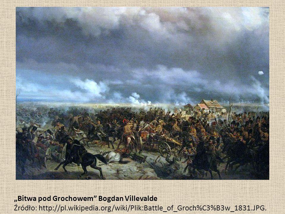 """Bitwa pod Grochowem"" Bogdan Villevalde Źródło: http://pl.wikipedia.org/wiki/Plik:Battle_of_Groch%C3%B3w_1831.JPG."