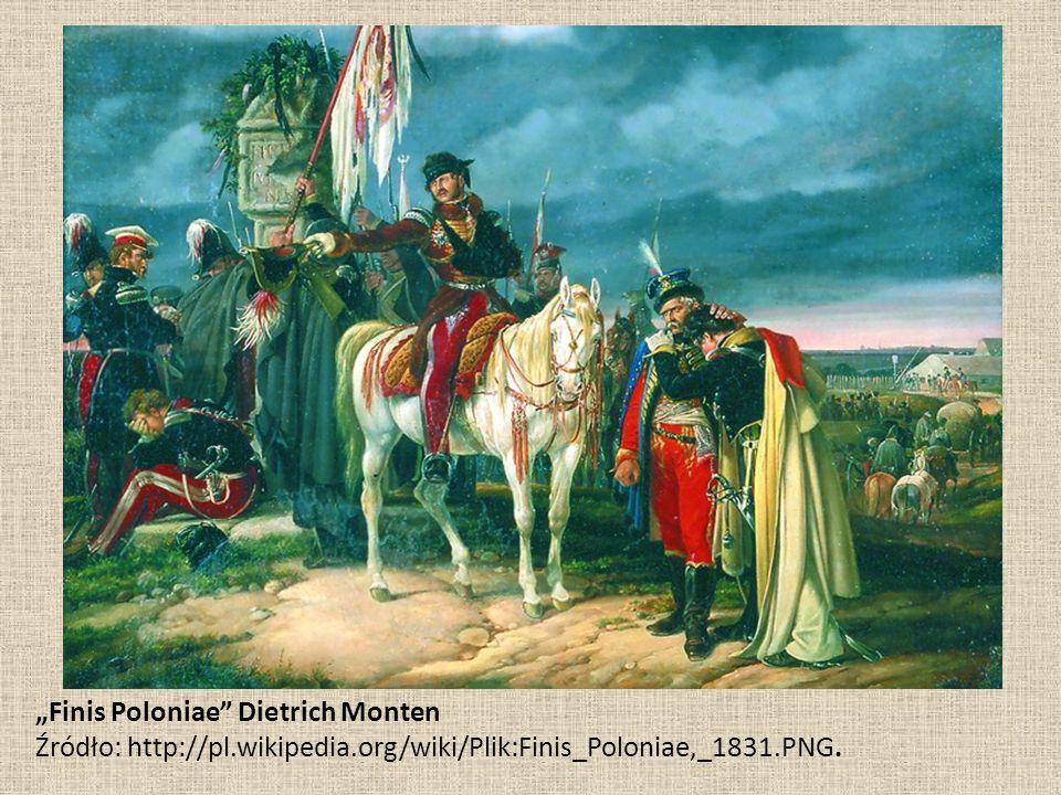 """Finis Poloniae"" Dietrich Monten Źródło: http://pl.wikipedia.org/wiki/Plik:Finis_Poloniae,_1831.PNG."