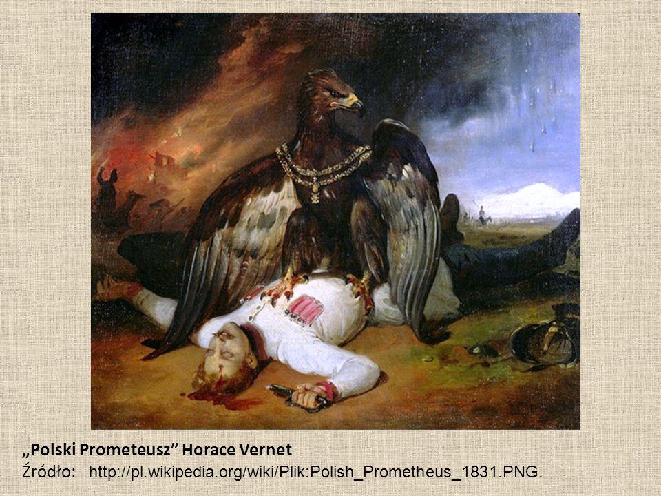 """Polski Prometeusz"" Horace Vernet Źródło: http://pl.wikipedia.org/wiki/Plik:Polish_Prometheus_1831.PNG."