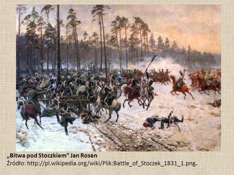 """Bitwa pod Stoczkiem"" Jan Rosen Źródło: http://pl.wikipedia.org/wiki/Plik:Battle_of_Stoczek_1831_1.png."