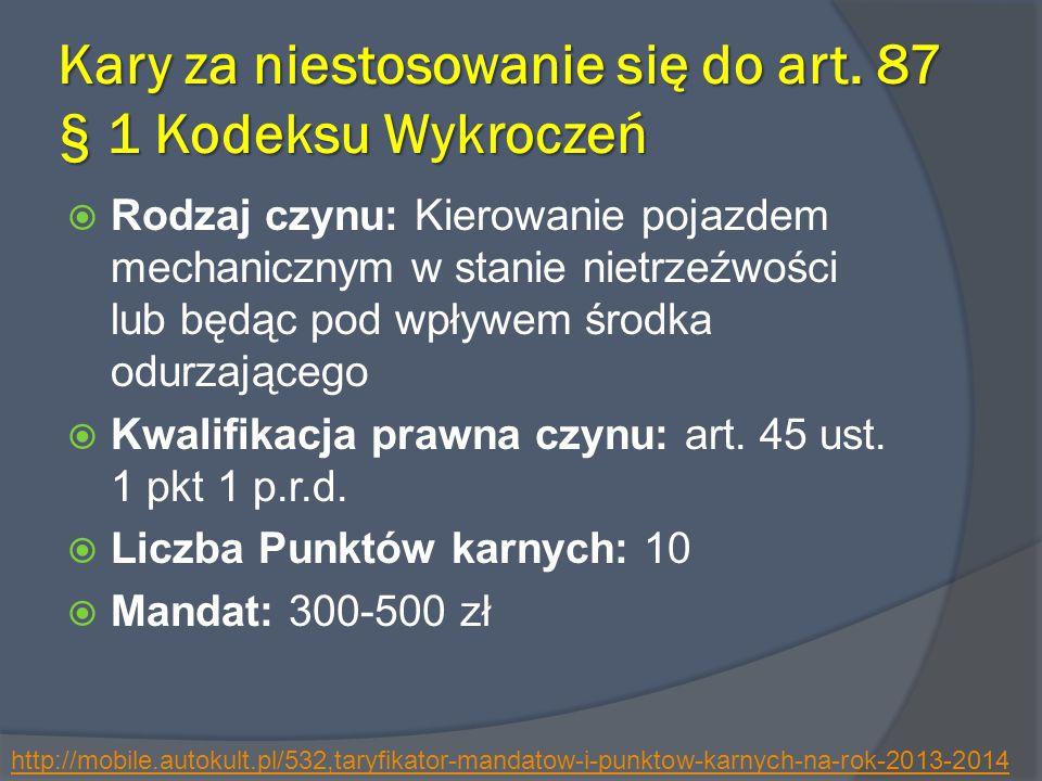 Kary za niestosowanie się do art.