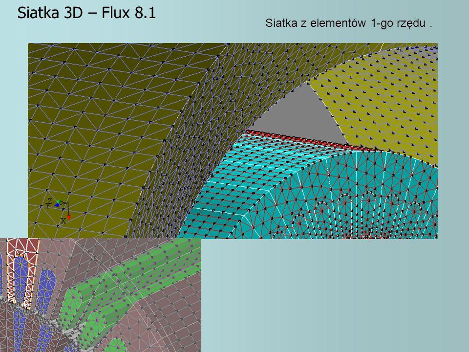 Siatka z elementów 1-go rzędu. Siatka 3D – Flux 8.1