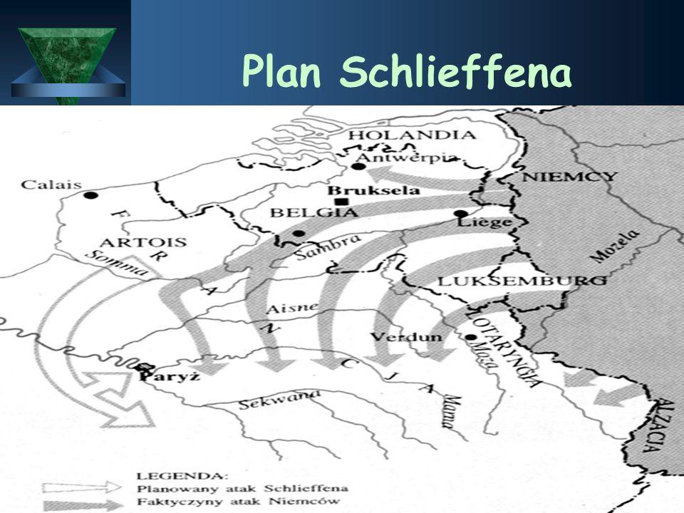 1914  Do walki stanęły państwa podzielone na dwa obozy - z jednej strony Niemcy, Austro-Węgry - PAŃSTWA CENTRALNE (do których w listopadzie dołącza T