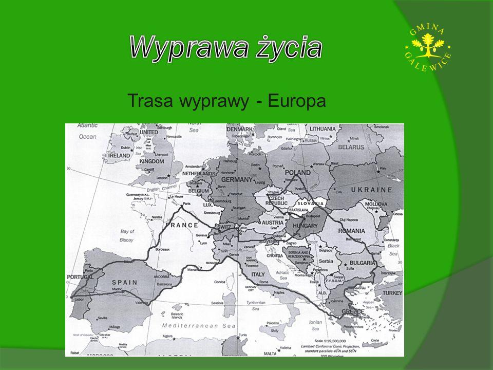 Trasa wyprawy - Europa