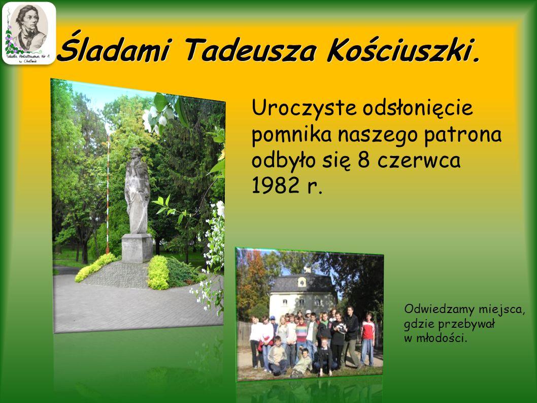 Tablica Tadeusza Kościuszki.W hollu naszej szkole wita nas codziennie Tadeusz Kościuszko.