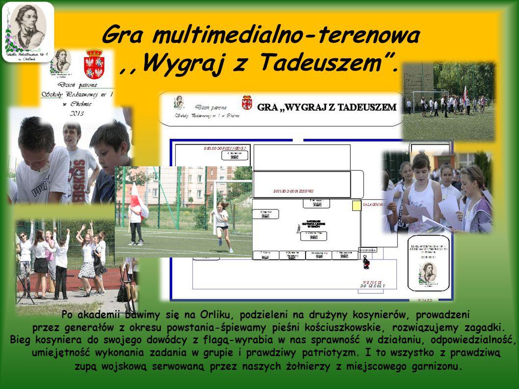 ,,Orlik W 2011 roku przy naszej szkole ukończono budowę,,Orlika , który służy nam nie tylko do ćwiczenia siły i wytrwałości, które cechują Tadeusza Kościuszkę, lecz także do organizowania imprez np.