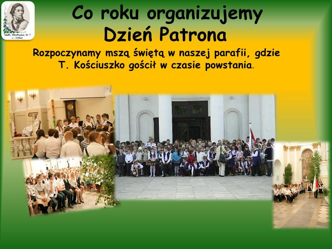 """Konkurs,,Tadeusz Kościuszko nasz patron"""". W 2012 roku nasza szkoła zorganizowała pierwszy konkurs,, Tadeusz Kościuszko nasz patron'' Pomysł ten okazał"""