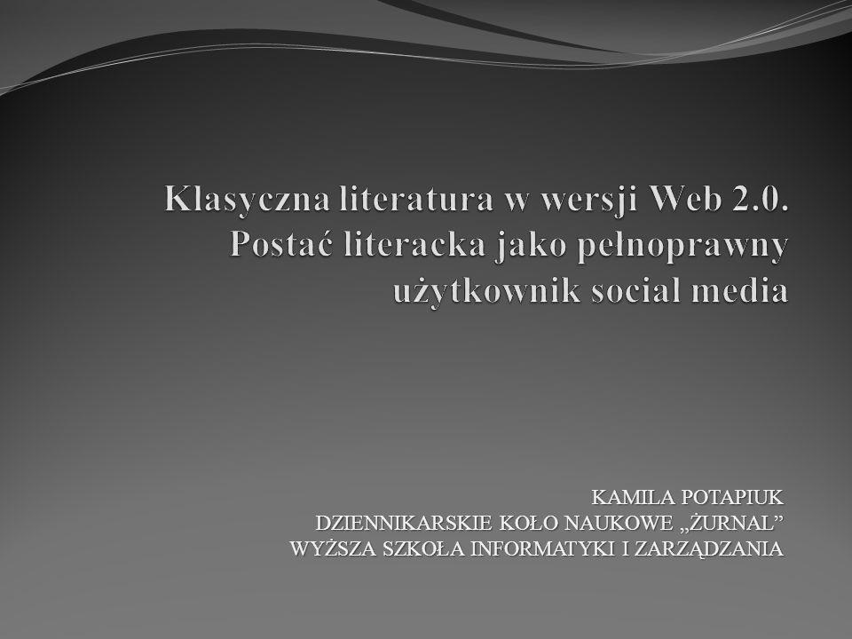"""KAMILA POTAPIUK DZIENNIKARSKIE KOŁO NAUKOWE """"ŻURNAL"""" WYŻSZA SZKOŁA INFORMATYKI I ZARZĄDZANIA"""