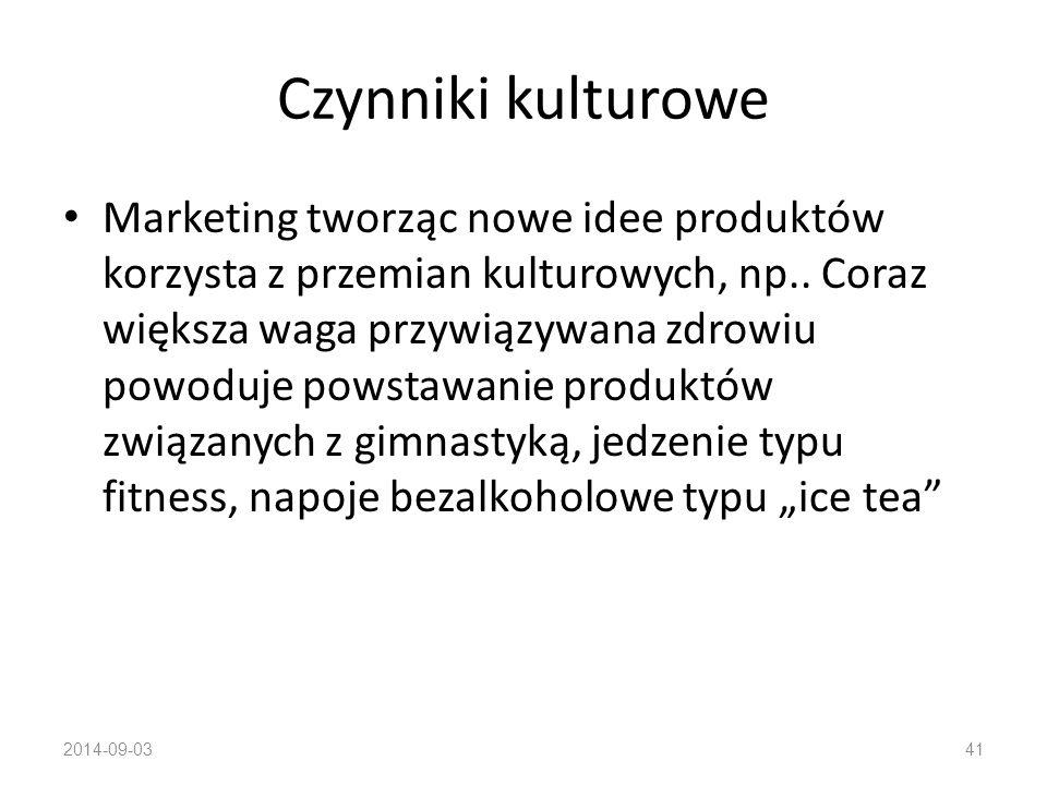 Czynniki kulturowe: Kultura – źródło ludzkich pragnień i zachowań Dorastając w polskim społeczeństwie dziecko uczy się kultury zachodniej, wschodniej,