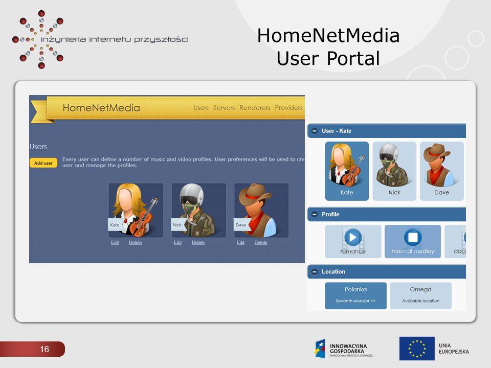 HomeNetMedia User Portal 16