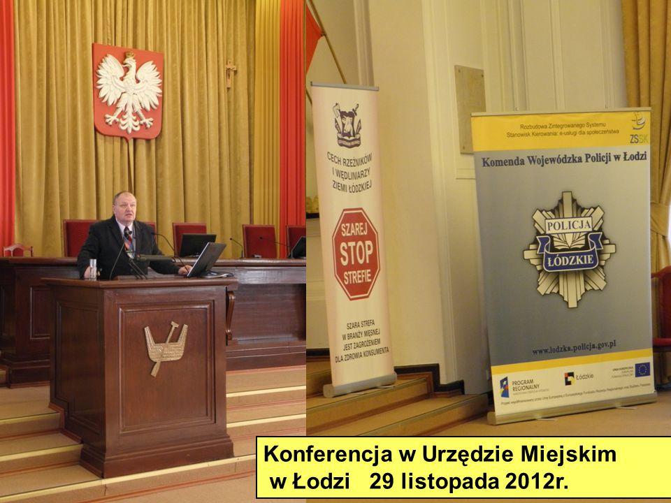 Konferencja w Urzędzie Miejskim w Łodzi 29 listopada 2012r.