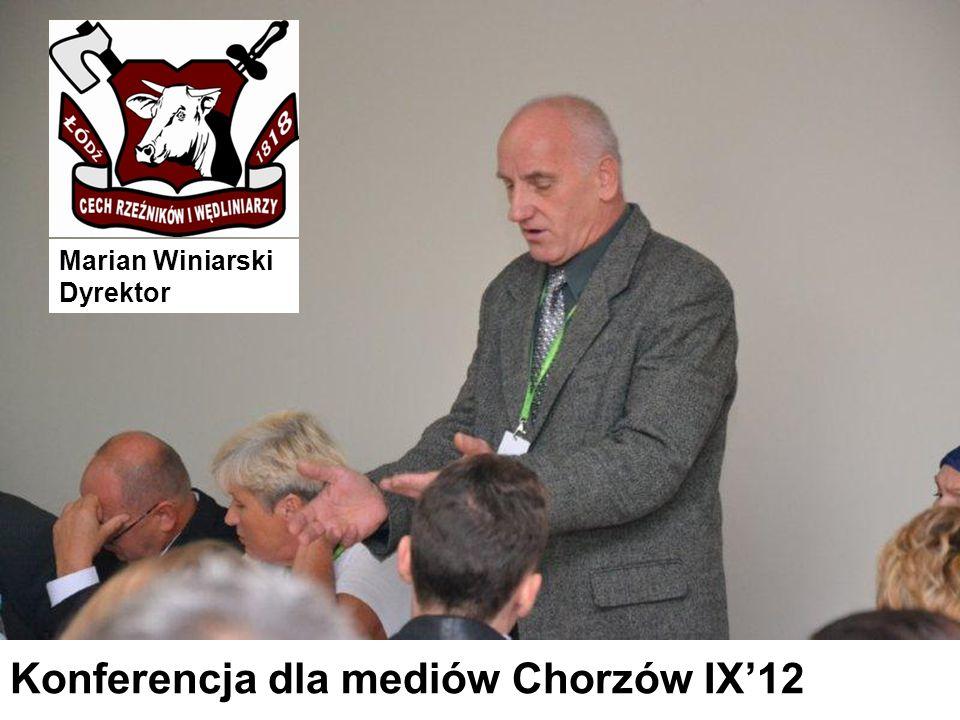 Marian Winiarski Dyrektor Konferencja dla mediów Chorzów IX'12