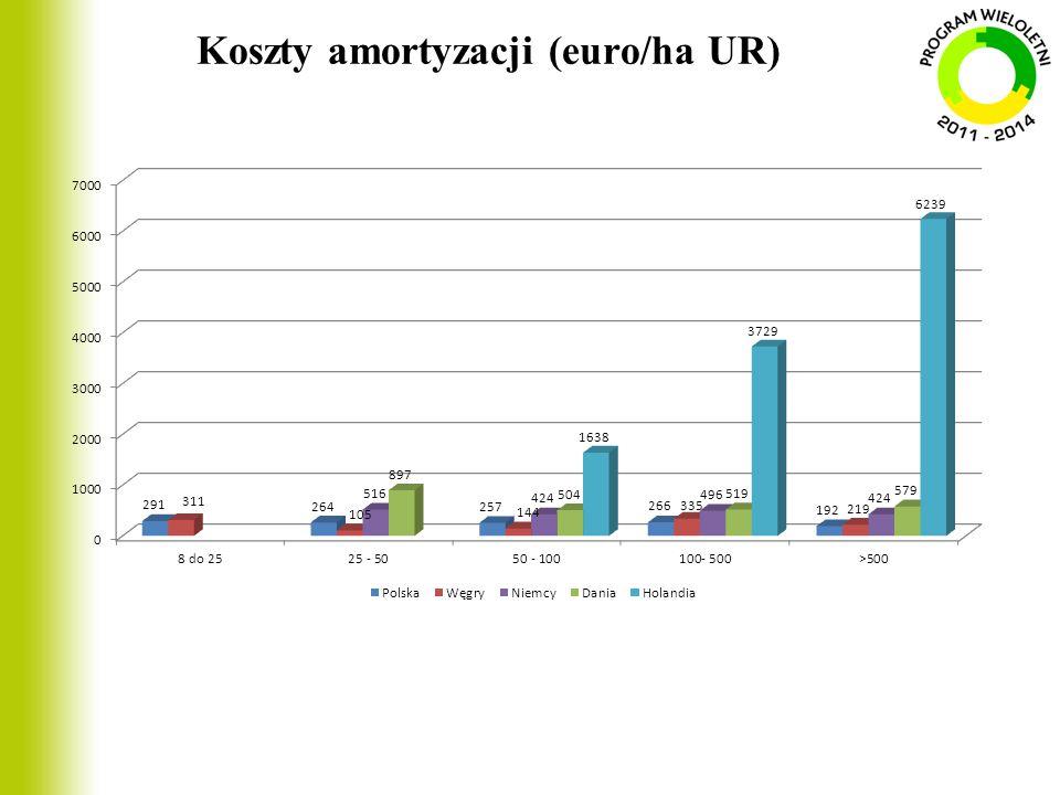 Koszty amortyzacji (euro/ha UR)