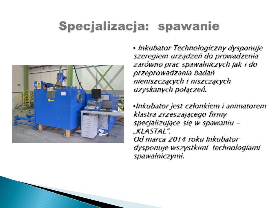 Inkubator Technologiczny dysponuje szeregiem urządzeń do prowadzenia zarówno prac spawalniczych jak i do przeprowadzania badań nieniszczących i niszcz
