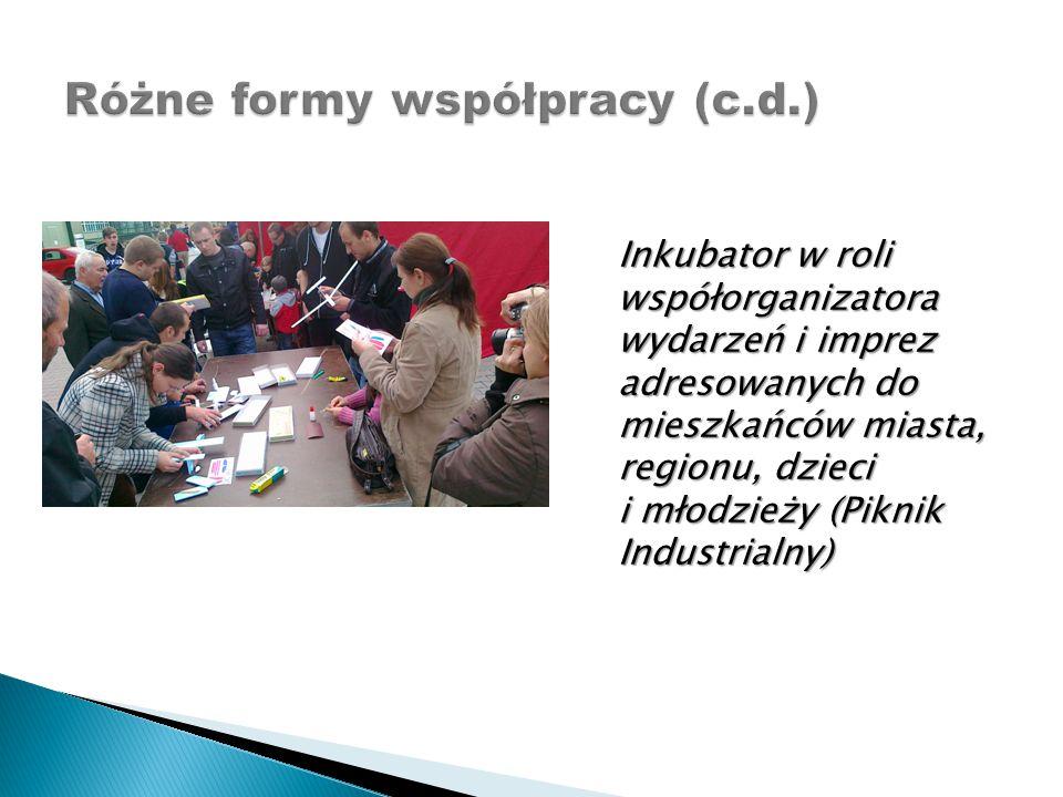 Inkubator w roli współorganizatora wydarzeń i imprez adresowanych do mieszkańców miasta, regionu, dzieci i młodzieży (Piknik Industrialny)