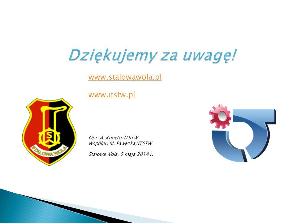 www.stalowawola.pl www.itstw.pl Opr. A. Kopyto/ITSTW Współpr. M. Pawęzka/ITSTW Stalowa Wola, 5 maja 2014 r.