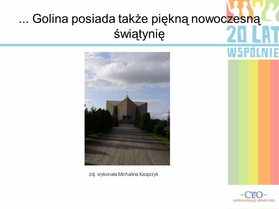 ... Golina posiada także piękną nowoczesną świątynię zdj. wykonała Michalina Kasprzyk