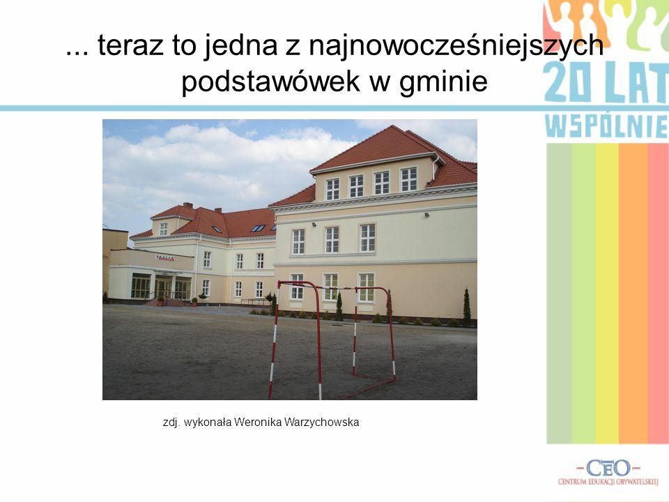 ... teraz to jedna z najnowocześniejszych podstawówek w gminie zdj. wykonała Weronika Warzychowska
