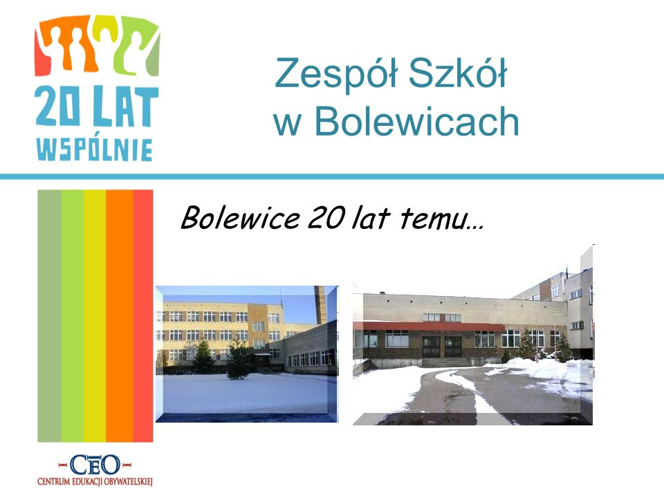Zespół Szkół w Bolewicach Bolewice 20 lat temu…