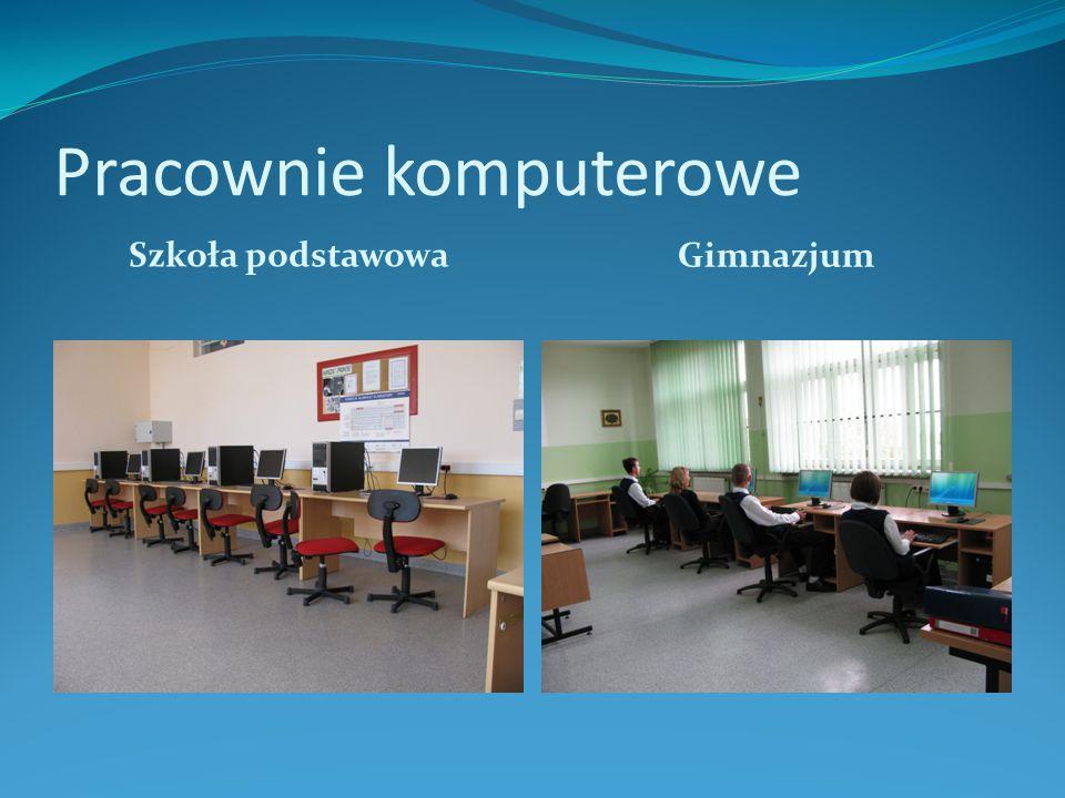 Pracownie komputerowe Szkoła podstawowa Gimnazjum