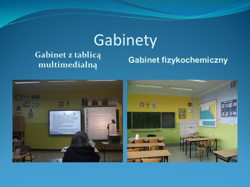 Gabinety Gabinet z tablicą multimedialną Gabinet fizykochemiczny