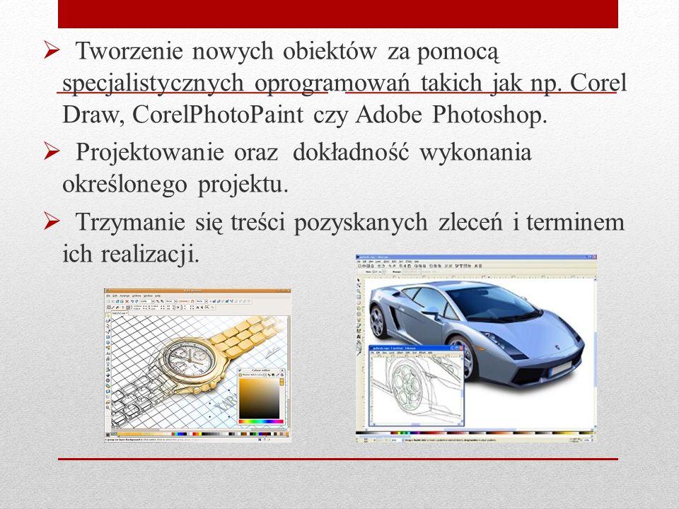  Tworzenie nowych obiektów za pomocą specjalistycznych oprogramowań takich jak np.