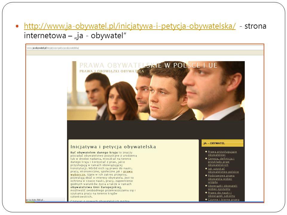 """http://www.ja-obywatel.pl/inicjatywa-i-petycja-obywatelska/ - strona internetowa – """"ja - obywatel"""" http://www.ja-obywatel.pl/inicjatywa-i-petycja-obyw"""