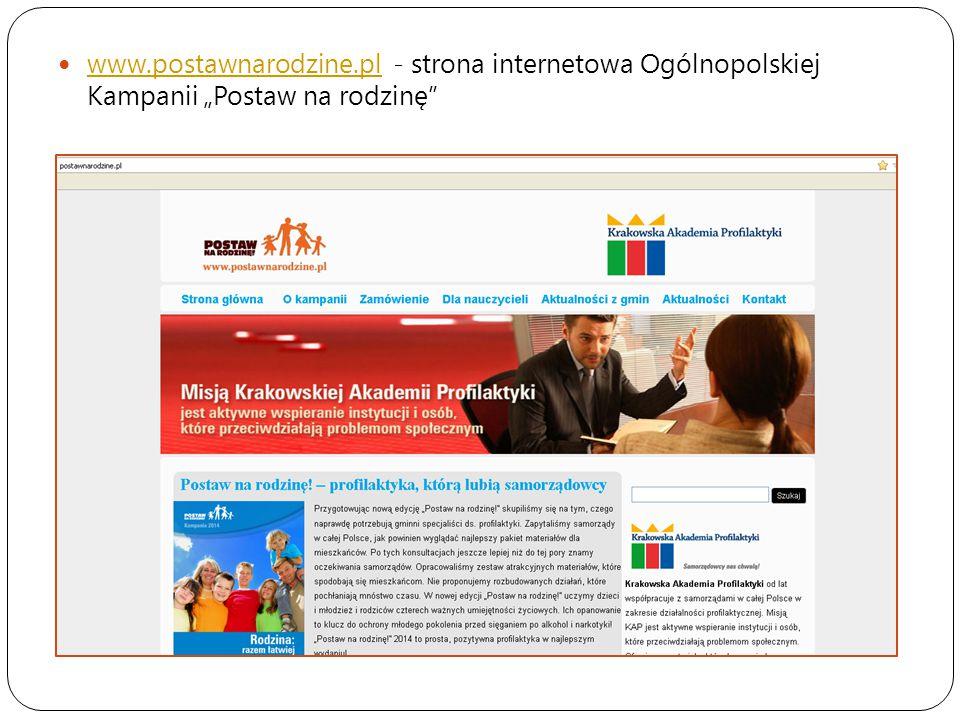 """www.postawnarodzine.pl - strona internetowa Ogólnopolskiej Kampanii """"Postaw na rodzinę"""" www.postawnarodzine.pl"""