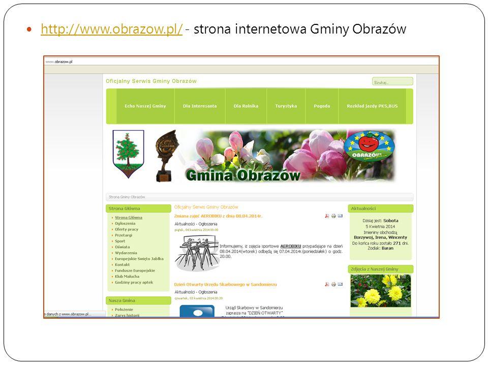 http://www.obrazow.pl/ - strona internetowa Gminy Obrazów http://www.obrazow.pl/