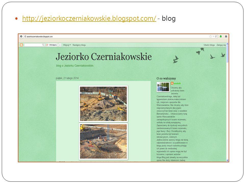 http://jeziorkoczerniakowskie.blogspot.com/ - blog http://jeziorkoczerniakowskie.blogspot.com/