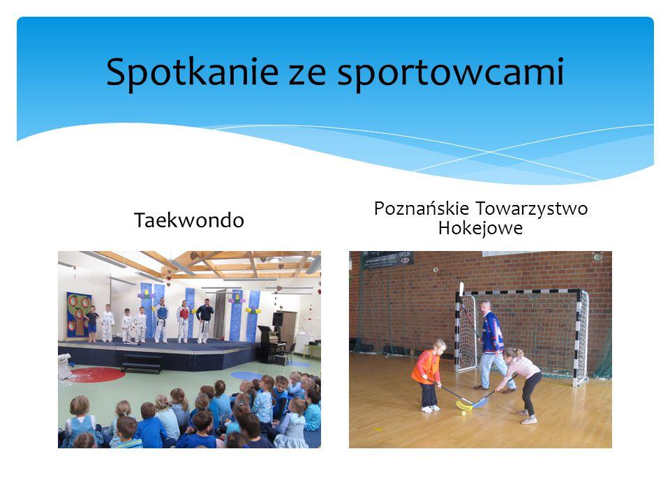 Spotkanie ze sportowcami Taekwondo Poznańskie Towarzystwo Hokejowe