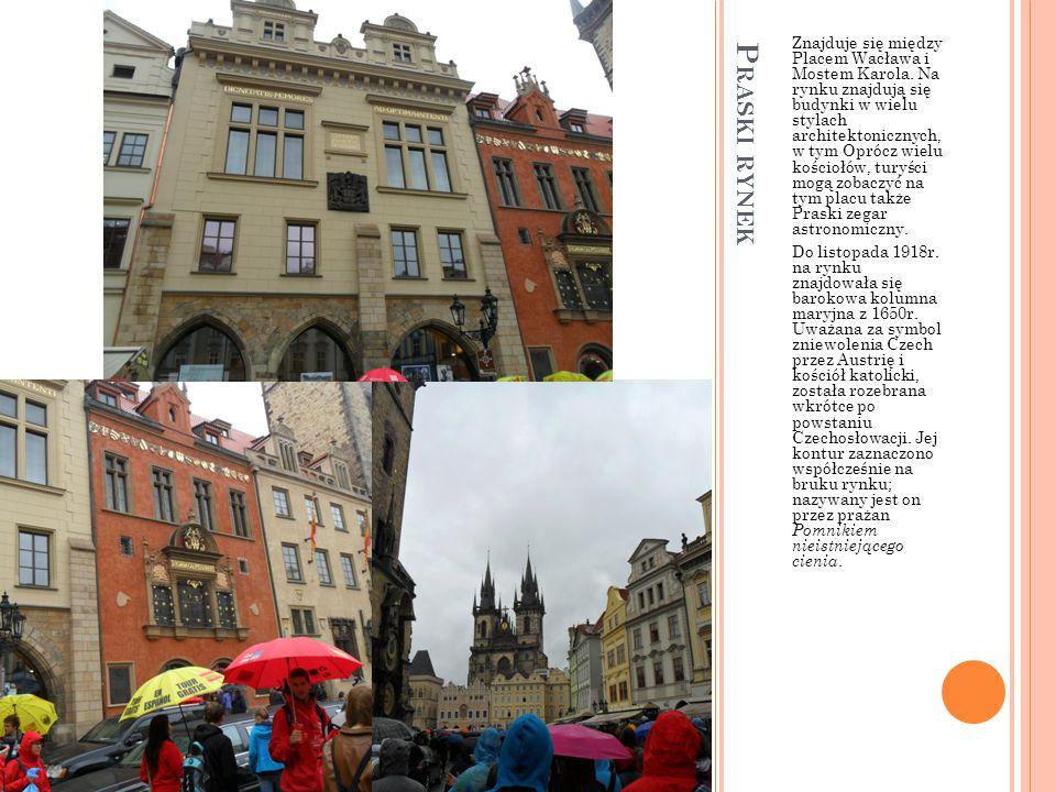 Z AMEK P RASKI : B RAMA M ATTHIAS Zamek na Hradczanach, (cz. Pražský hrad ) to zamek w Pradze w dzielnicy Hradczany istniejący już od najstarszych dzi