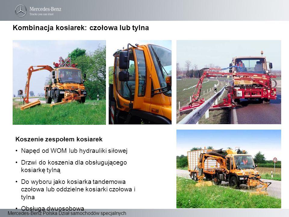 Mercedes-Benz Polska Dział samochodów specjalnych Koszenie zespołem kosiarek Napęd od WOM lub hydrauliki siłowej Drzwi do koszenia dla obsługującego k