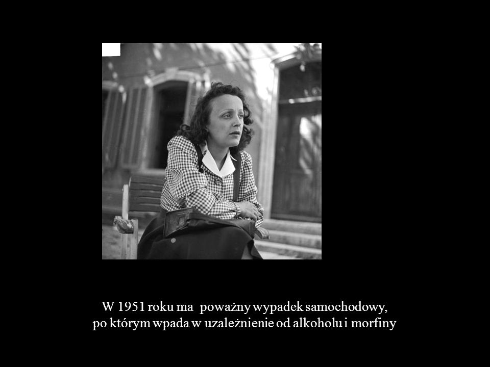Nawet słynna Marlene Dietrich, która sprezentowała jej ogromny brylant pada w pasję uwodzicielską jednej nocy z Edith Piaf Marlene DietrichEdith Piaf