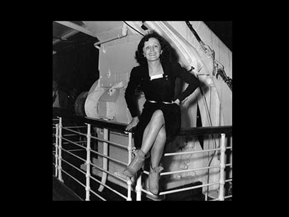 Oprócz jej talentu, widzów przyciągała otaczająca Piaf legenda, wynikająca z jej przeszłości, a także ze związków uczuciowych, które z jednej strony z