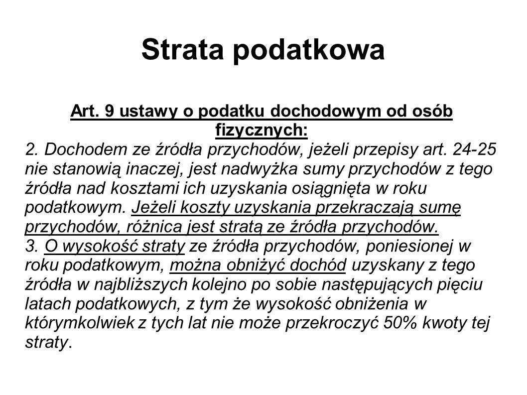 Strata podatkowa (2) Art.24 o.p.
